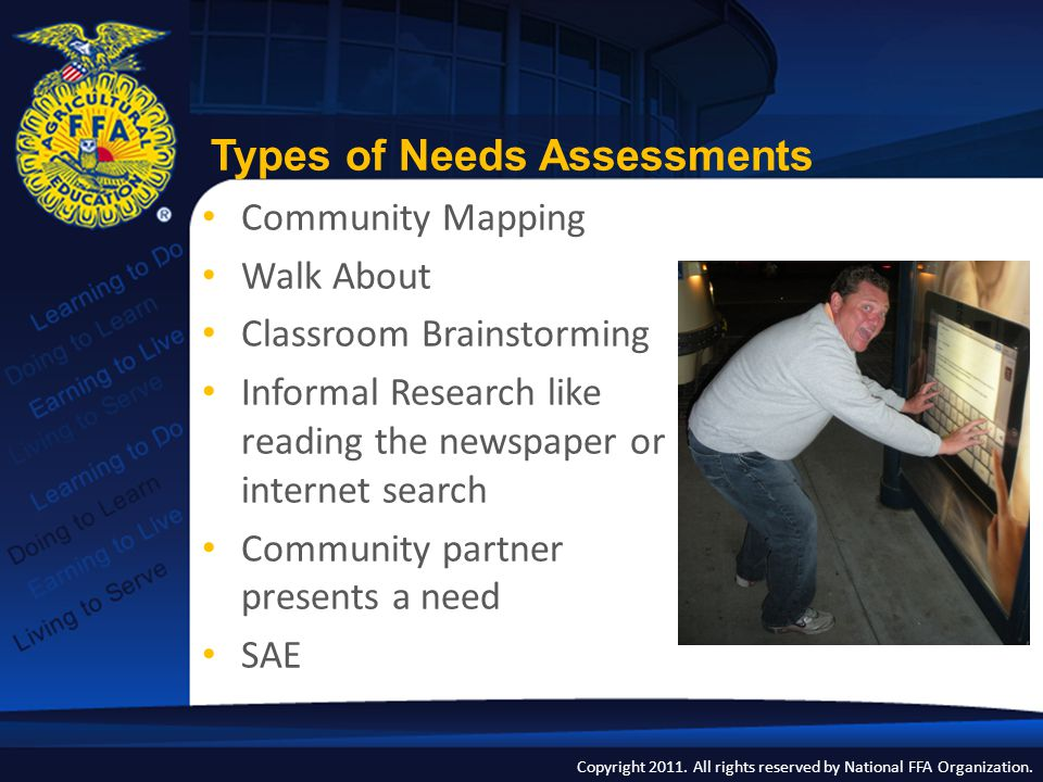 Types of Needs Assessments