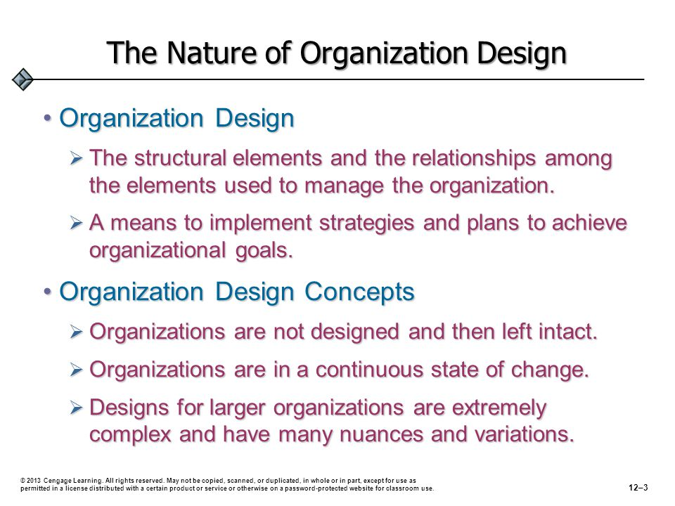 The Nature of Organization Design