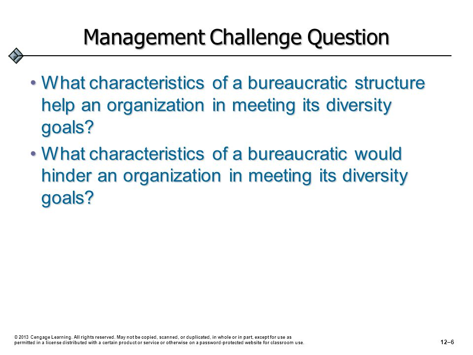 Management Challenge Question
