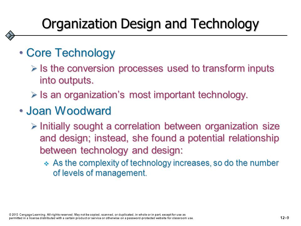 Organization Design and Technology