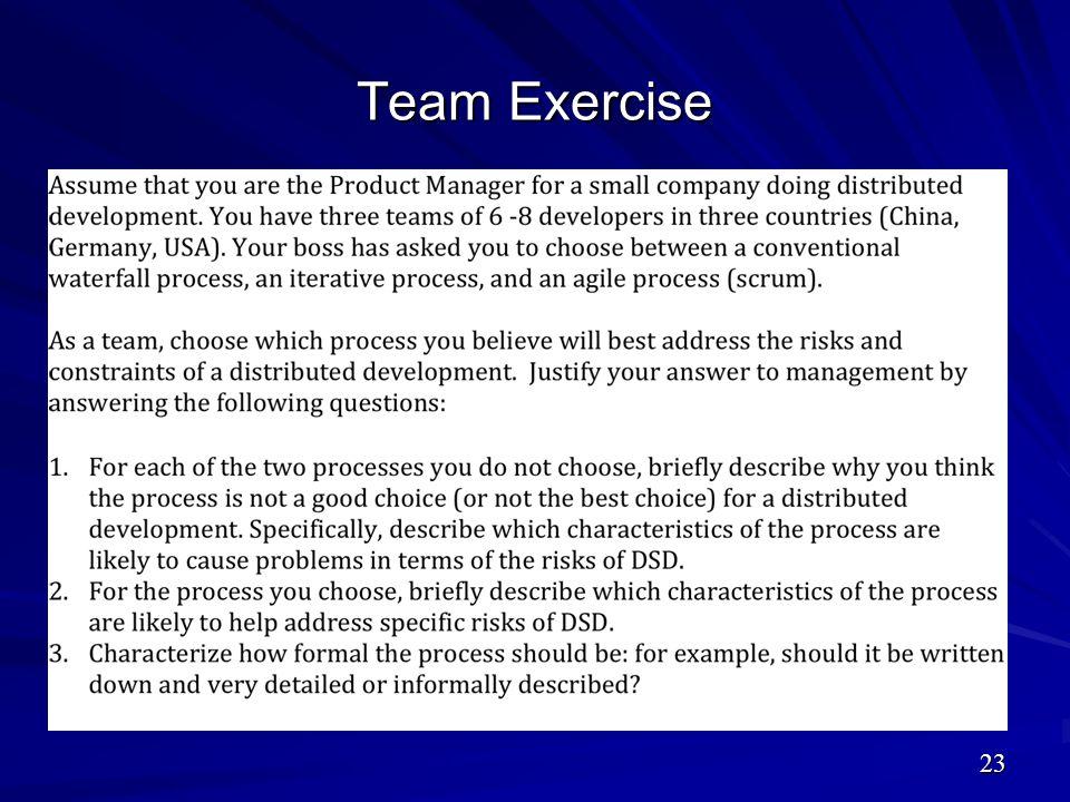 Team Exercise