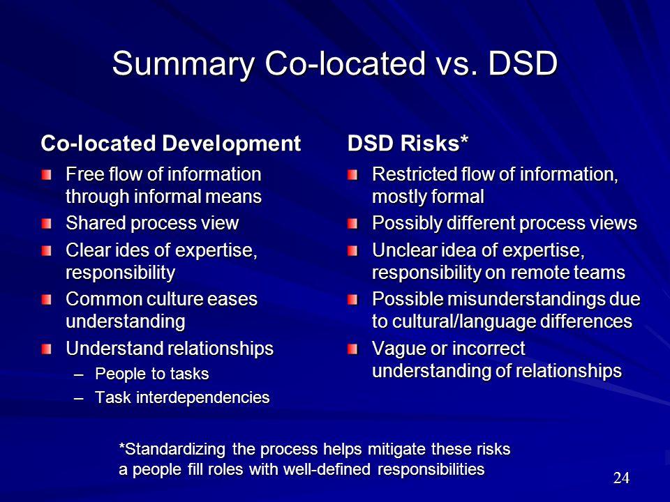 Summary Co-located vs. DSD