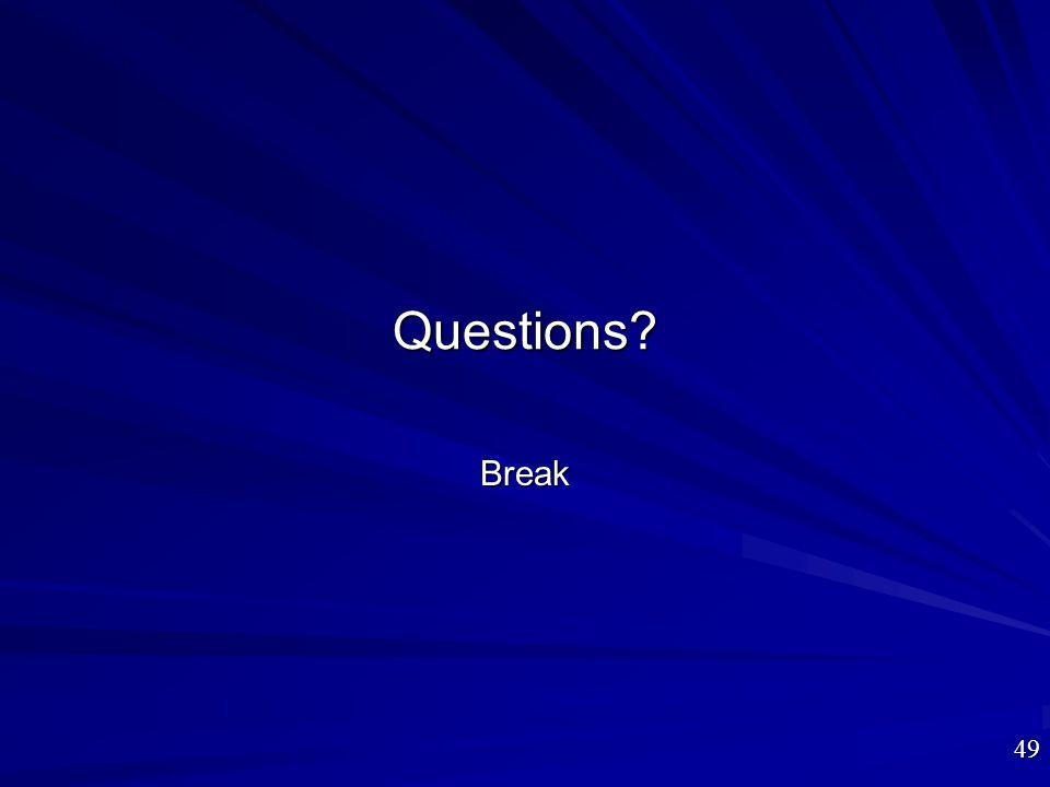 Questions Break
