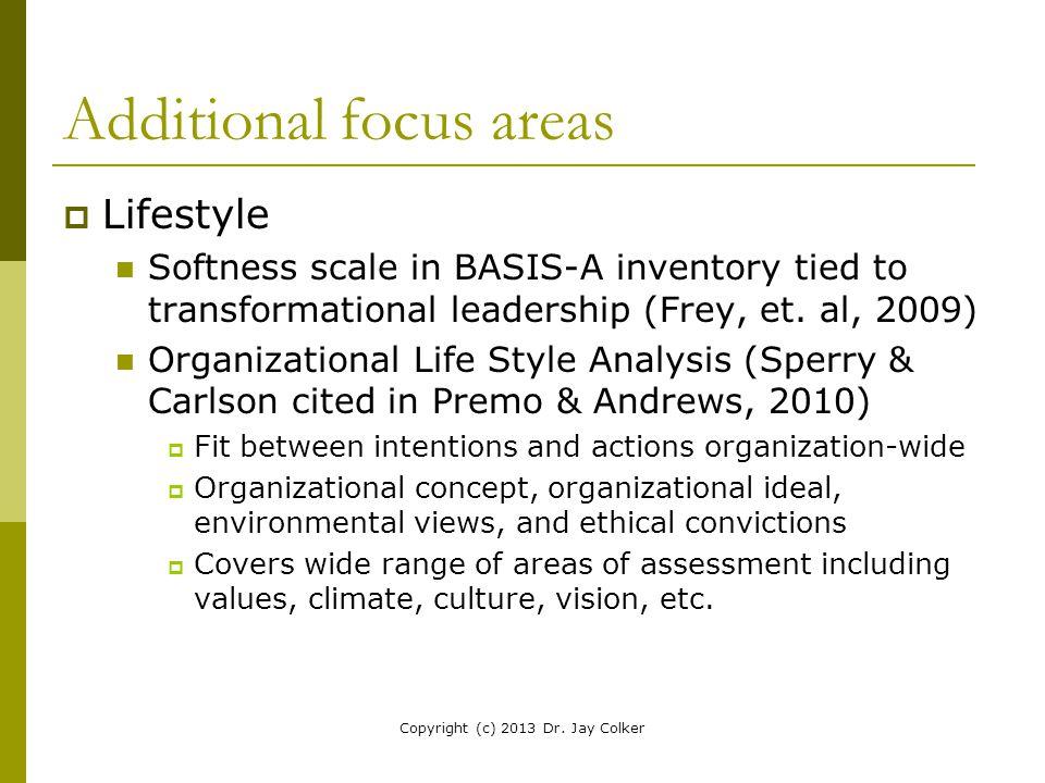 Additional focus areas