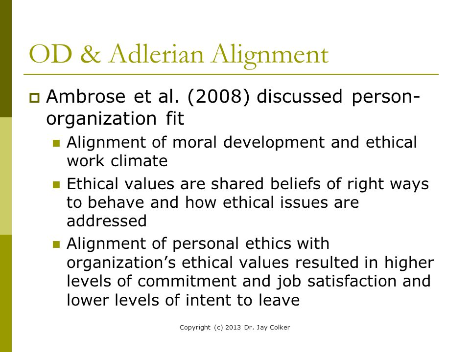 OD & Adlerian Alignment