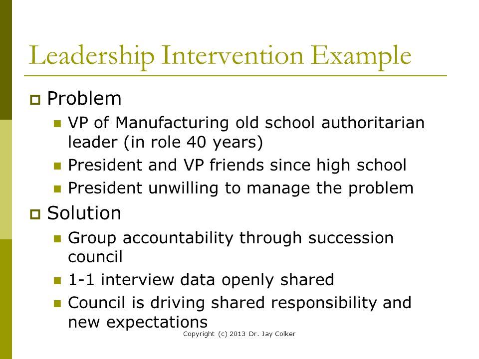 Leadership Intervention Example