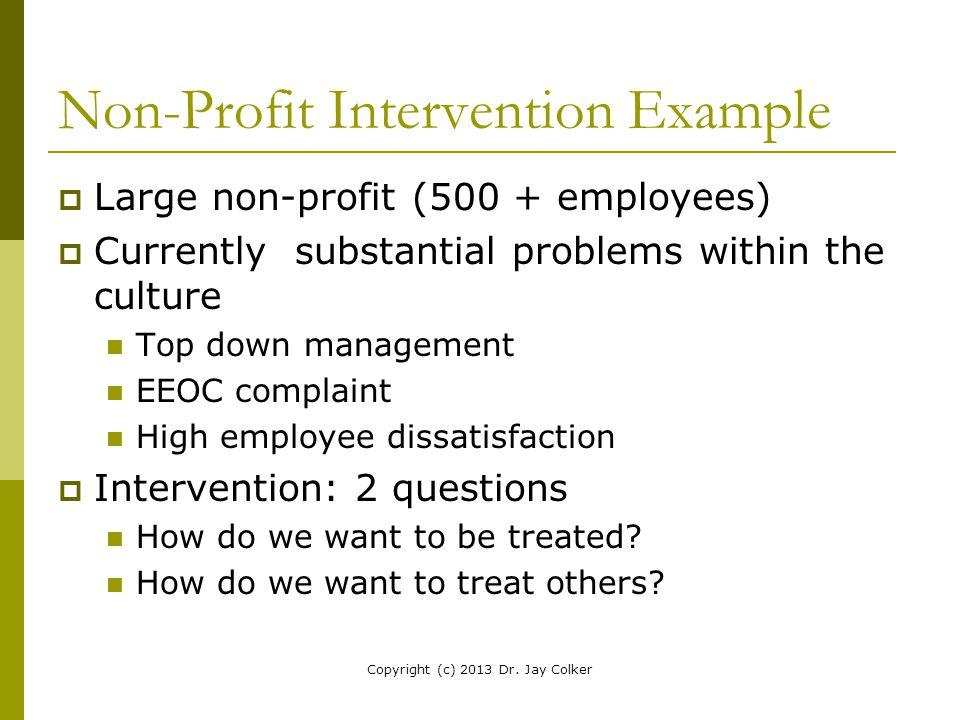 Non-Profit Intervention Example