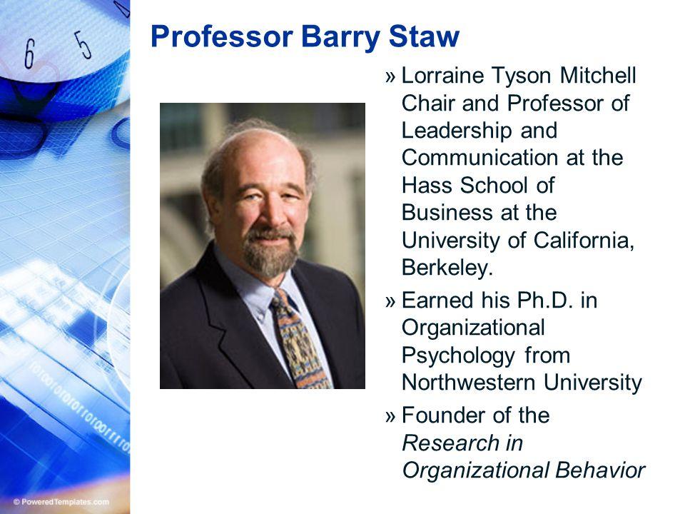 Professor Barry Staw