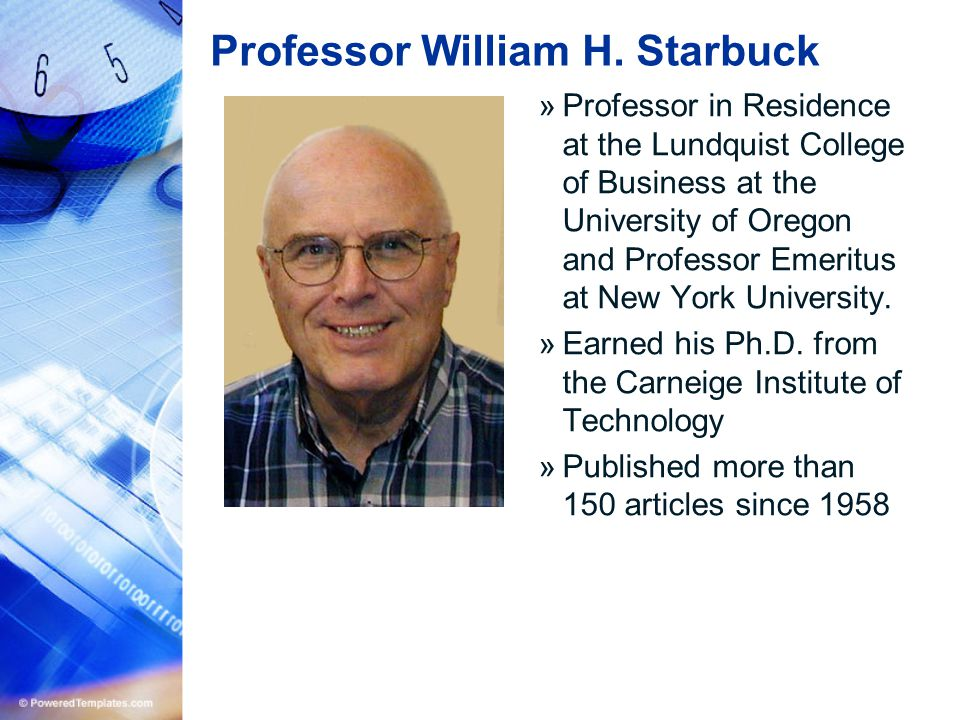 Professor William H. Starbuck