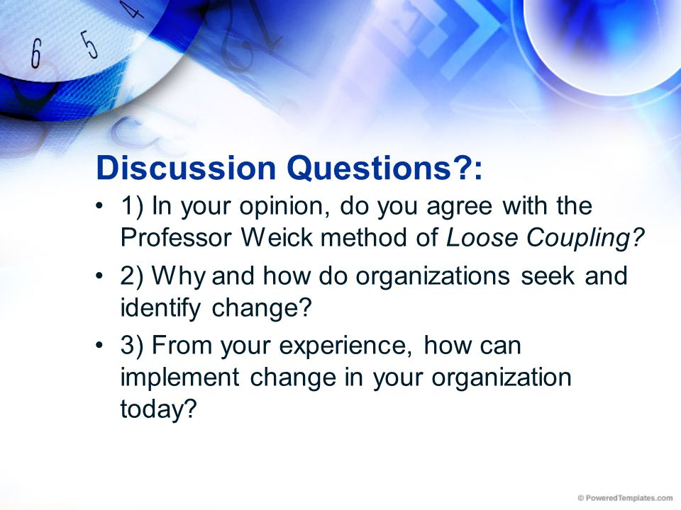 Discussion Questions :