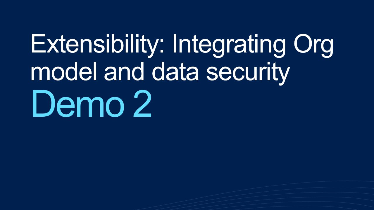 Extensibility: Integrating Org model and data security