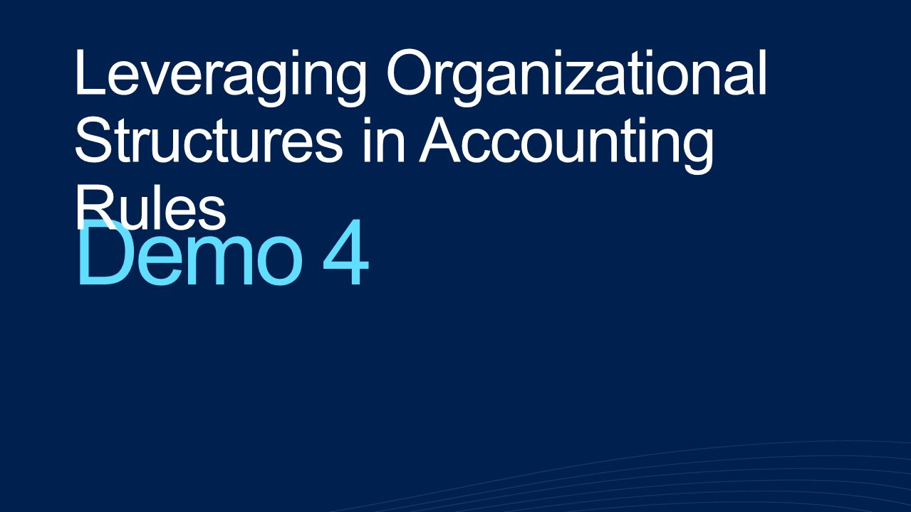 Leveraging Organizational Structures in Accounting Rules