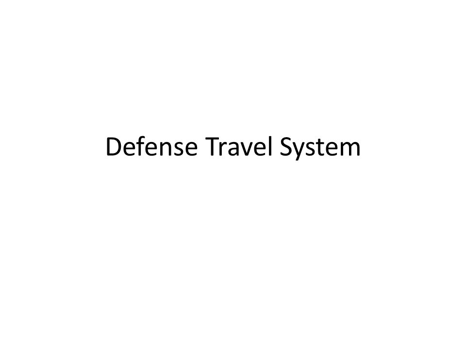 Defense Travel System
