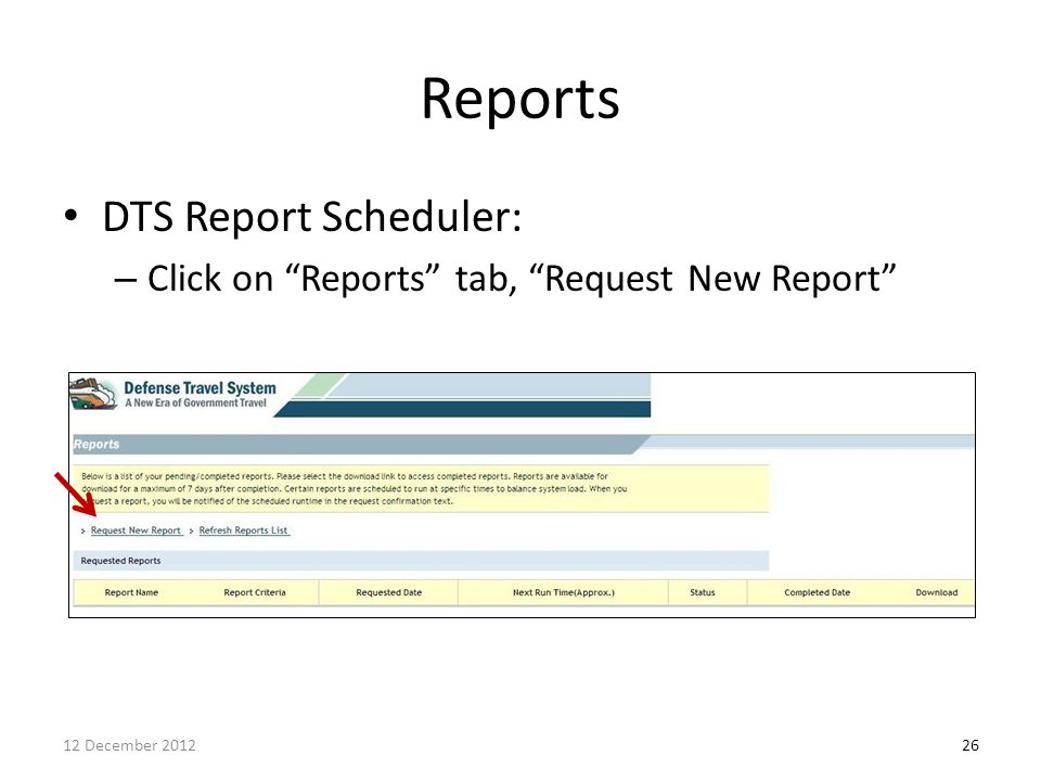 Reports DTS Report Scheduler: