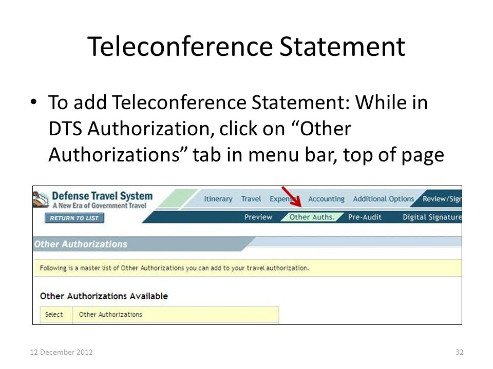 Teleconference Statement
