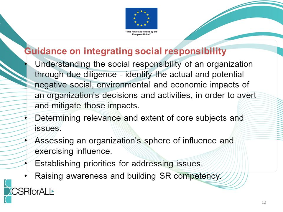 Guidance on integrating social responsibility