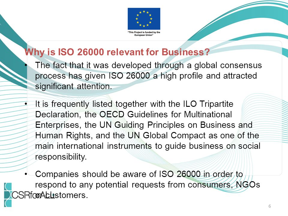 Why is ISO 26000 relevant for Business