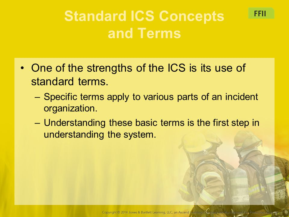 Standard ICS Concepts and Terms