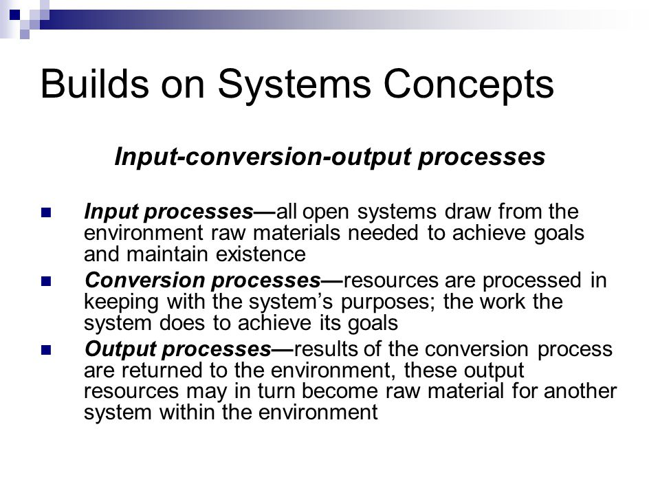 Builds on Systems Concepts