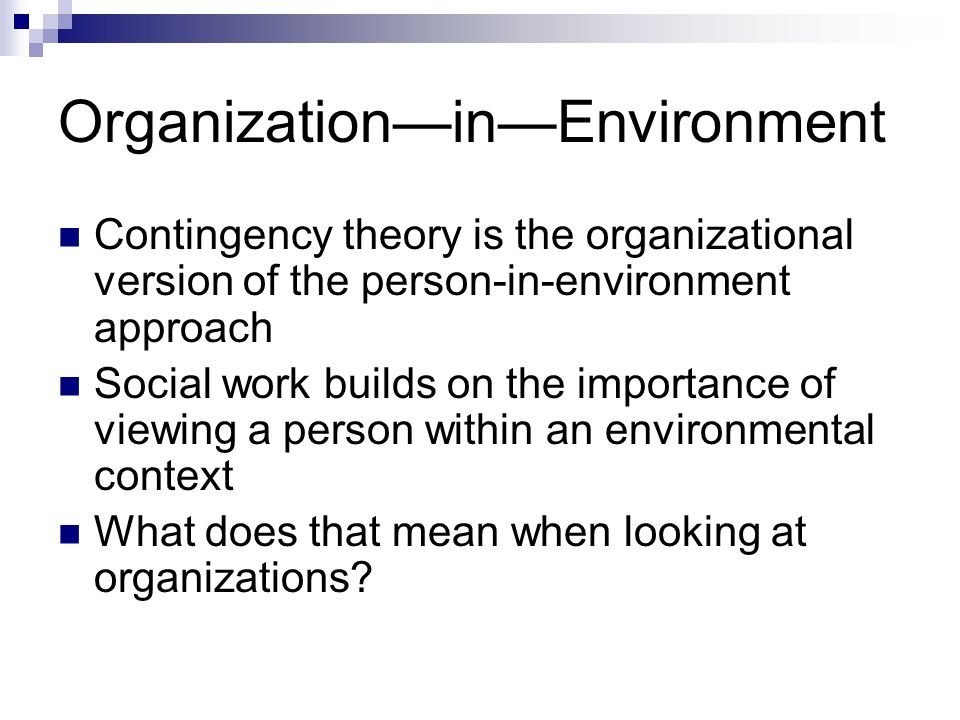 environmental contingency factors on organisational design Researches cited are considered as an incentive to identify some of the variables used in the design of the accounting system four major variables of contingency technology, organization structure, environment, and human factors were presented as.