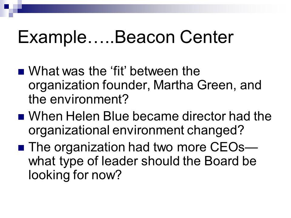 Example…..Beacon Center