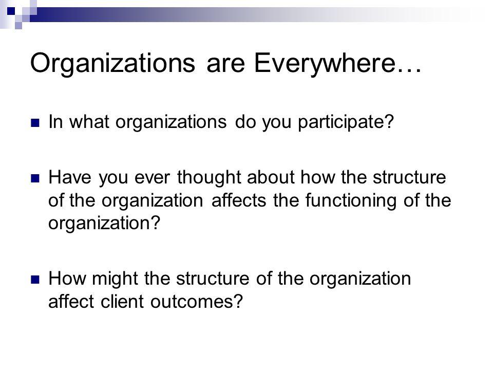 Organizations are Everywhere…