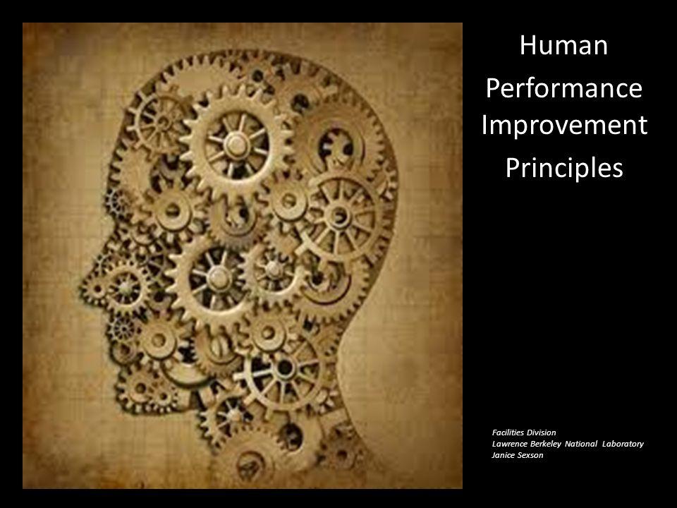 Human Performance Improvement Principles
