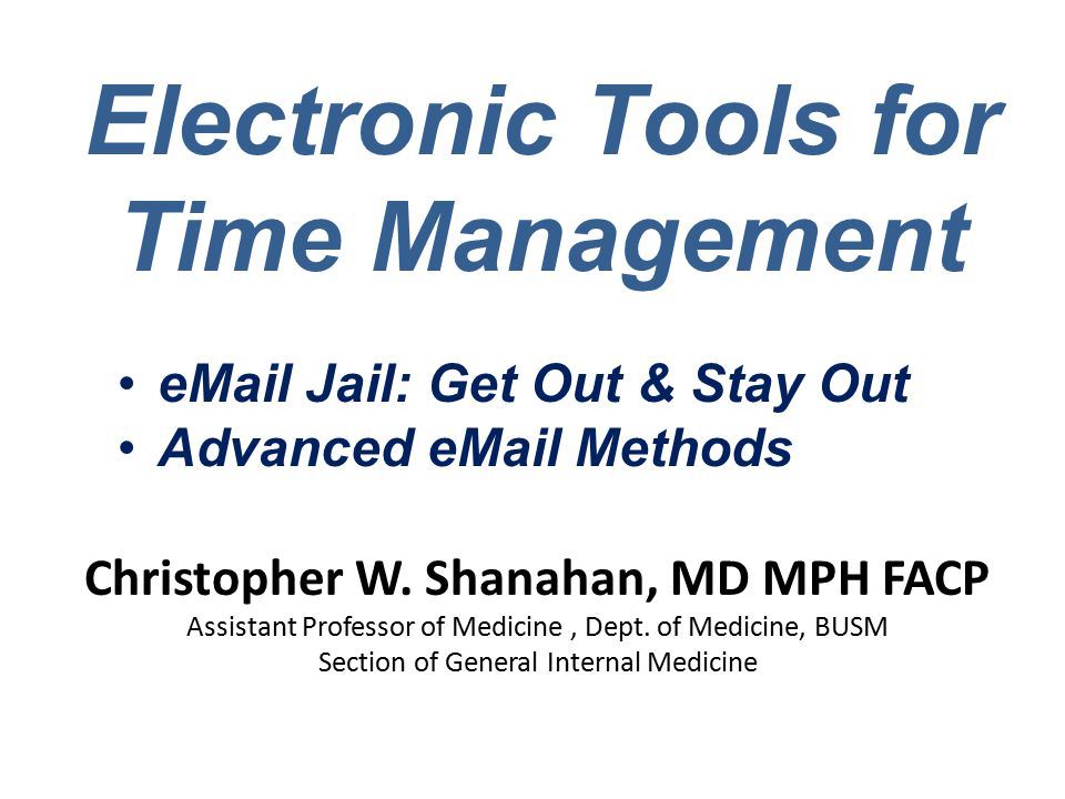 Christopher W. Shanahan, MD MPH FACP