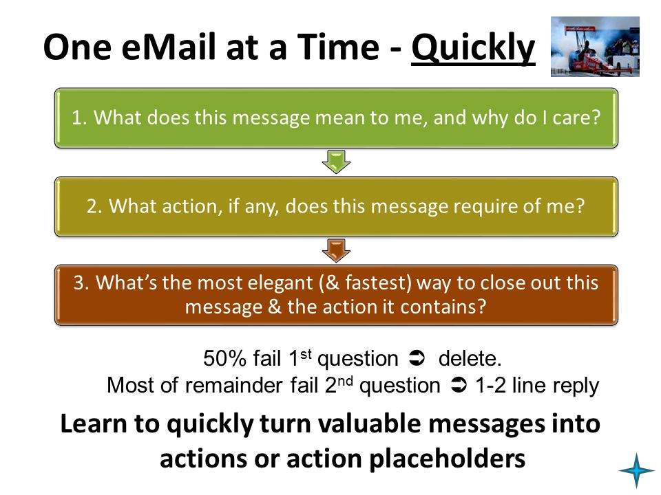 One eMail at a Time - Quickly