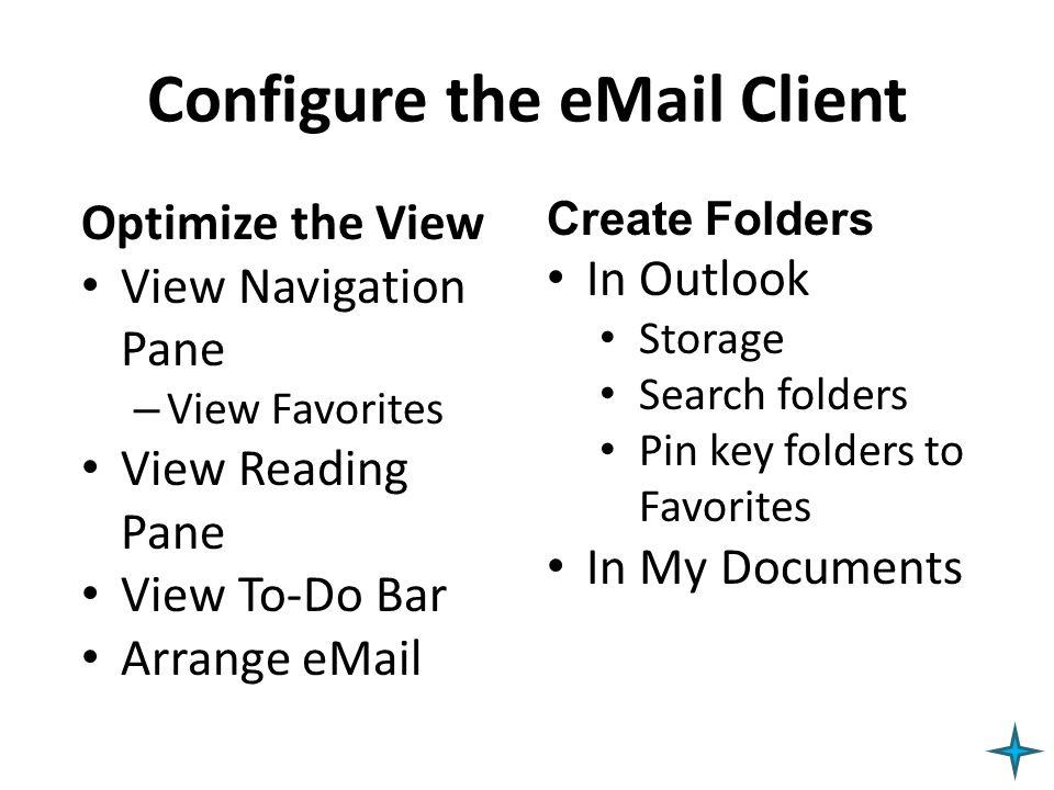 Configure the eMail Client