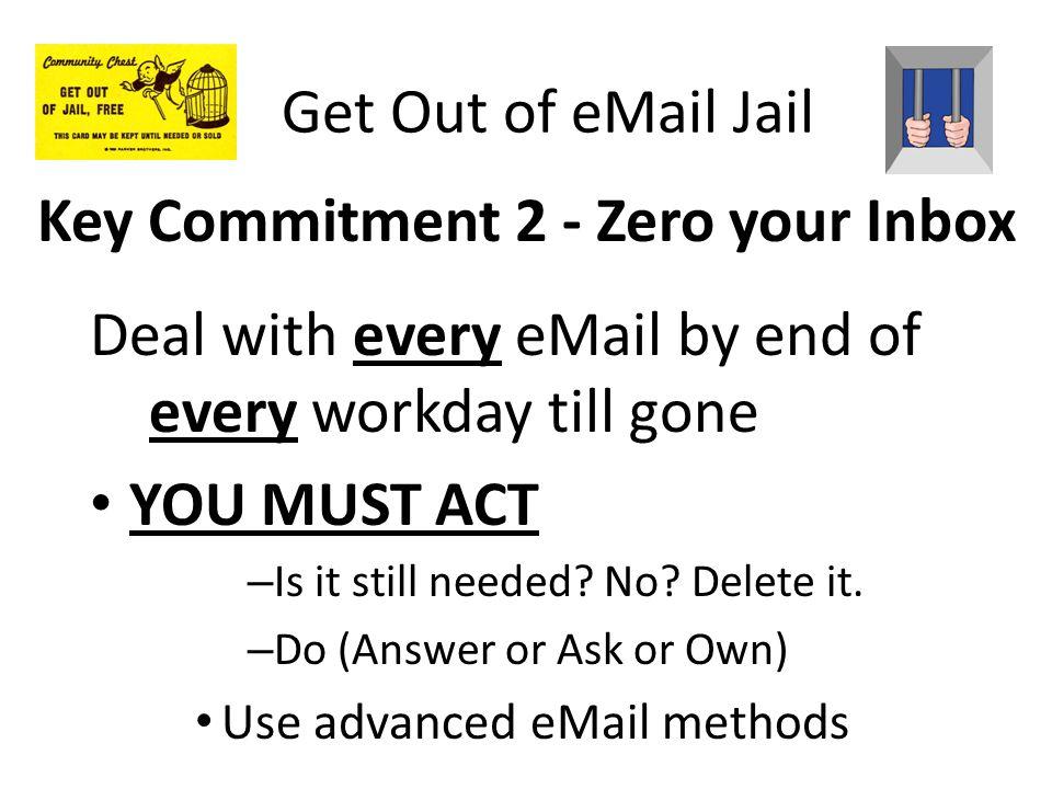 Key Commitment 2 - Zero your Inbox