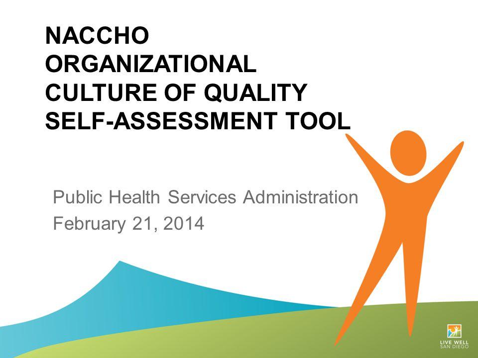 NACCHO Organizational Culture of quality self-assessment tool