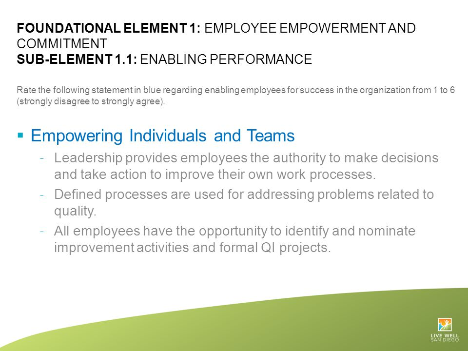 Empowering Individuals and Teams