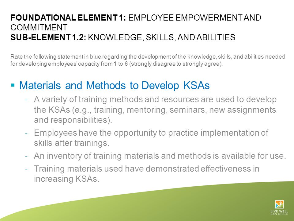 Materials and Methods to Develop KSAs