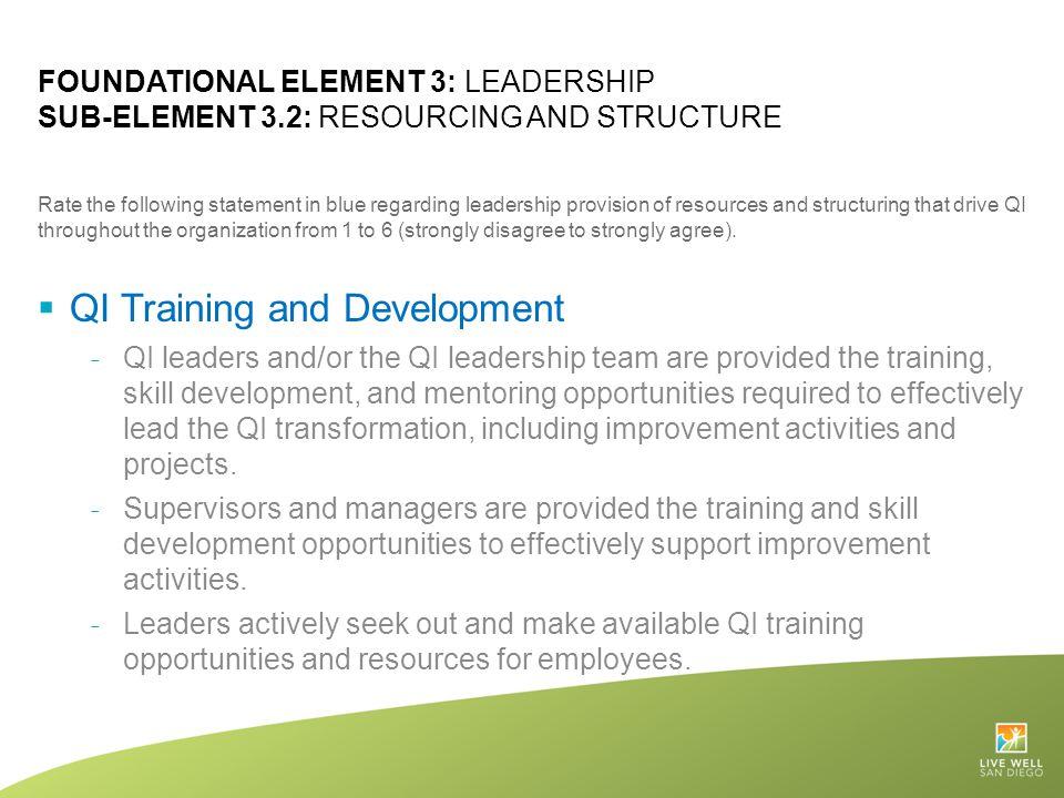 QI Training and Development