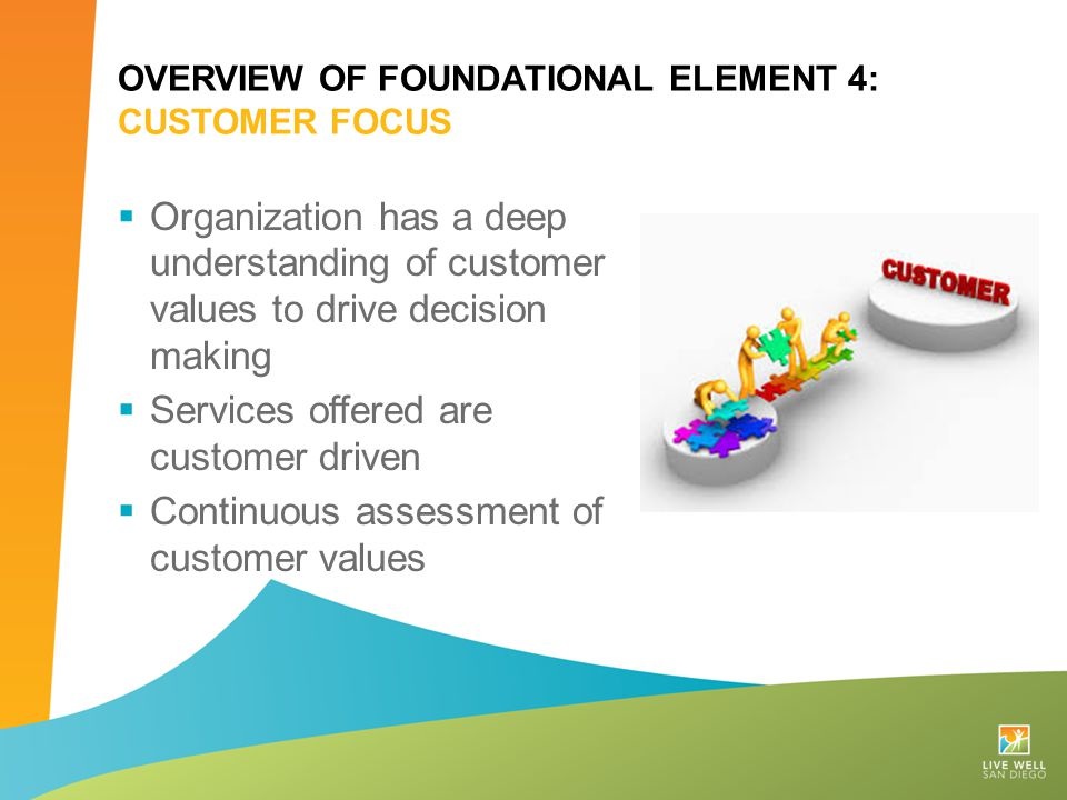 Overview of Foundational Element 4: Customer Focus