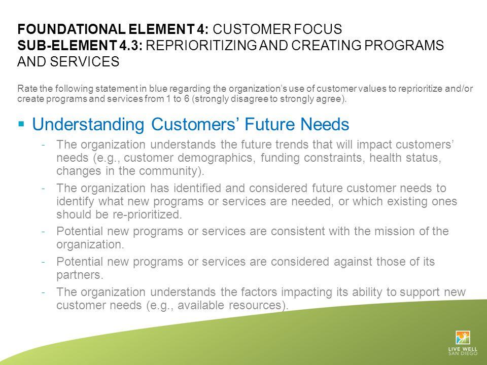 Understanding Customers' Future Needs