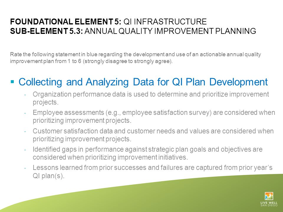 Collecting and Analyzing Data for QI Plan Development