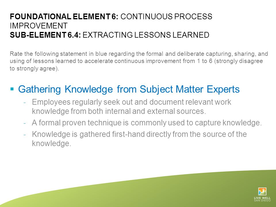Gathering Knowledge from Subject Matter Experts