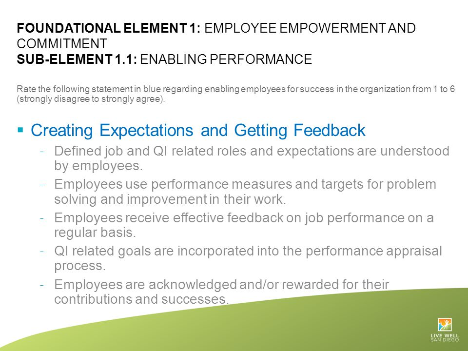Creating Expectations and Getting Feedback