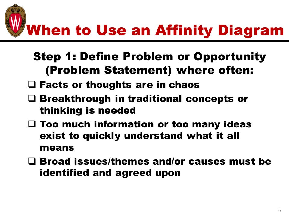 When to Use an Affinity Diagram