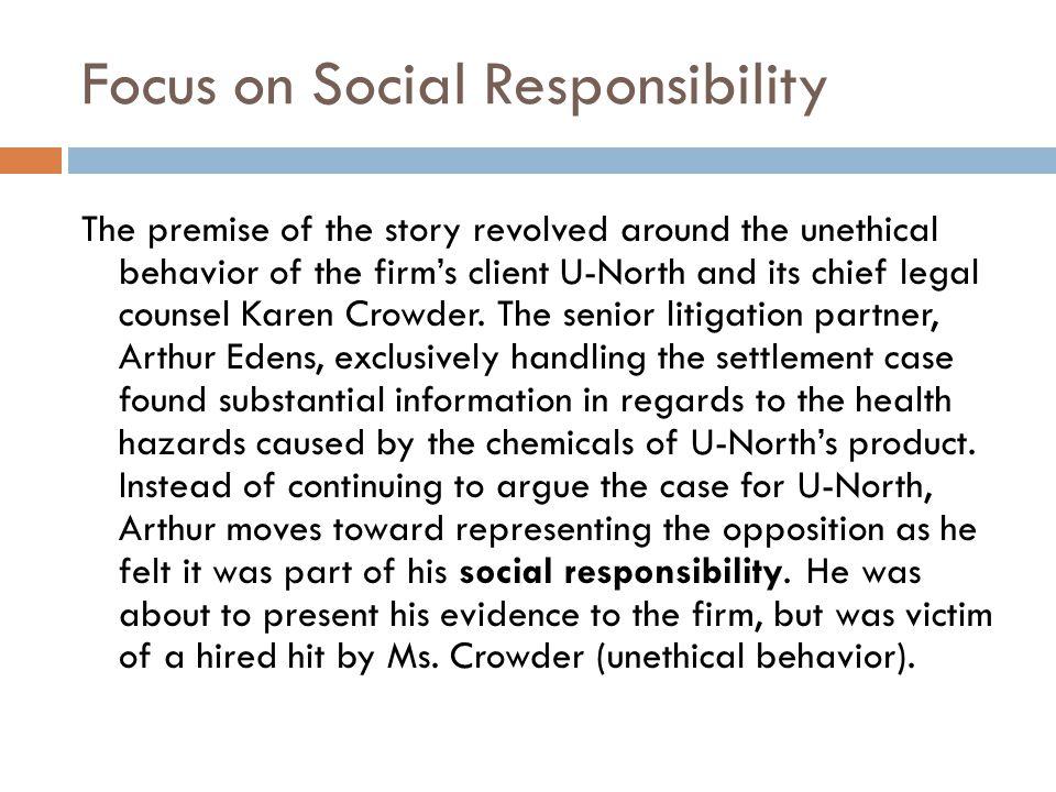 Focus on Social Responsibility