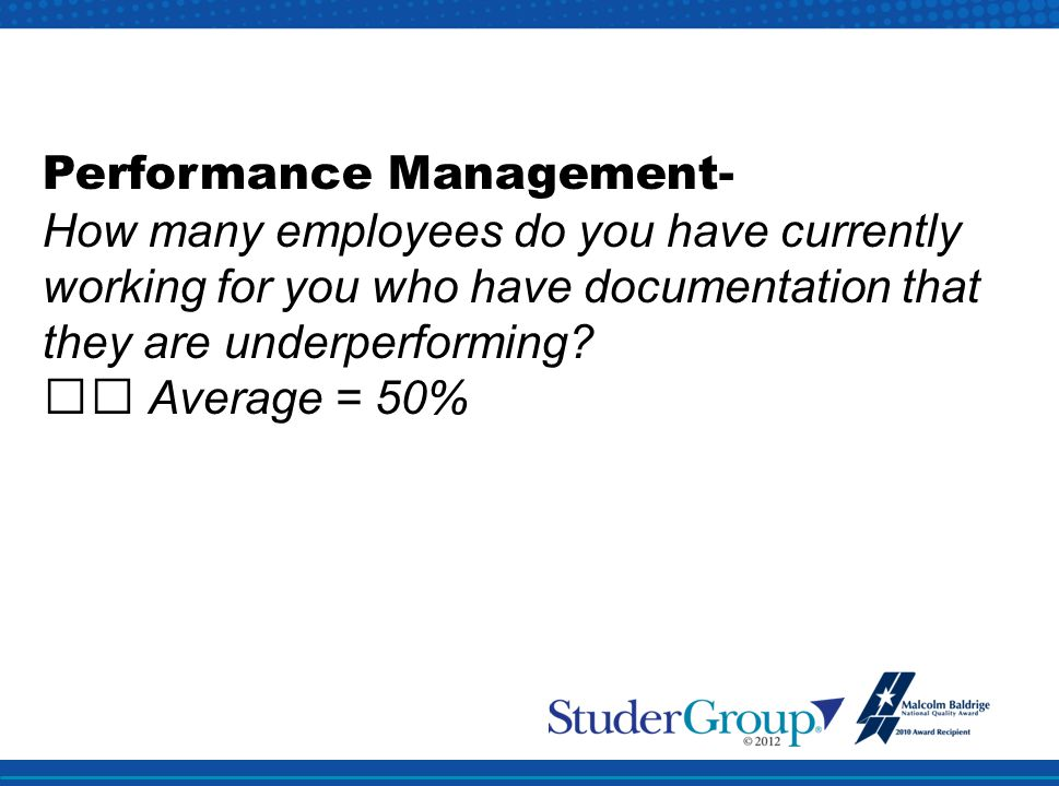 Performance Management-