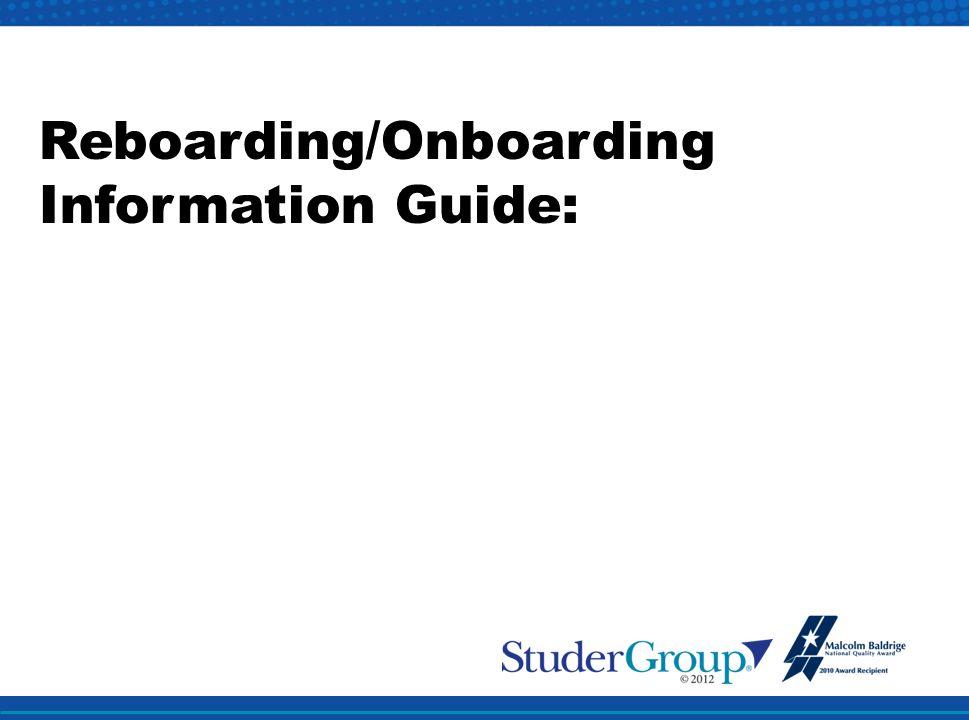 Reboarding/Onboarding