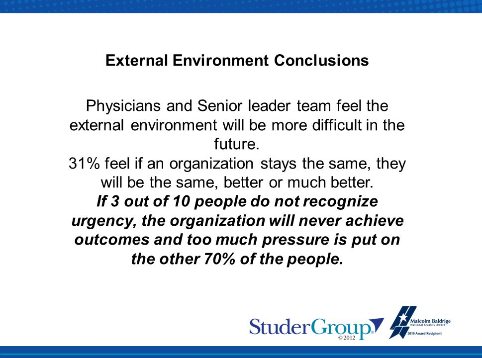 External Environment Conclusions