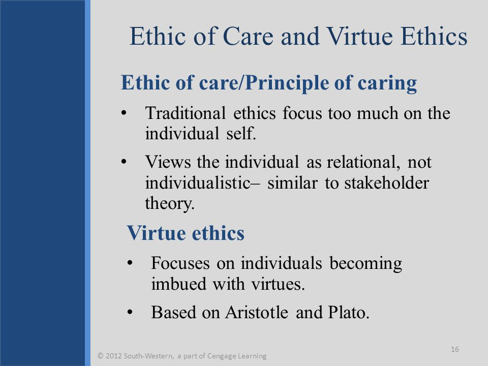 Ethic of Care and Virtue Ethics