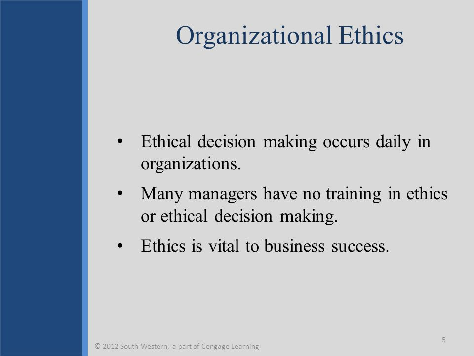 organisational ethics