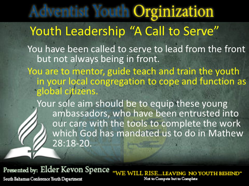 Youth Leadership A Call to Serve