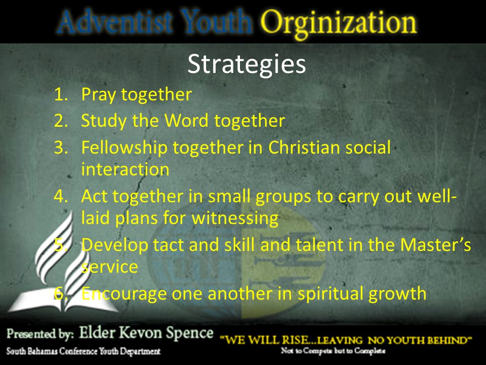 Strategies Pray together Study the Word together