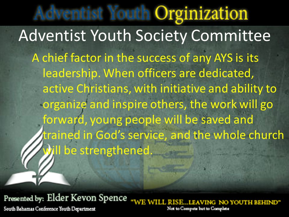 Adventist Youth Society Committee